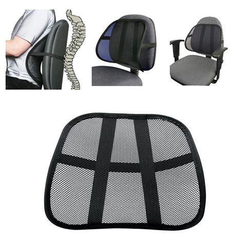 desk chair back support cool vent cushion mesh back lumbar support new car office