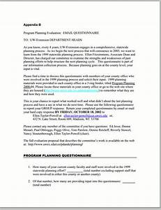 email questionnaires better evaluation With email questionnaire template