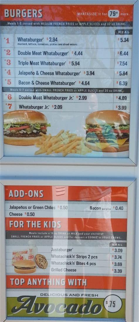 Fast Food Source-fast food menus and blogs - Whataburger Menu
