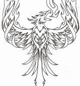Phoenix Coloring Pages Bird Printable Adult Getcolorings Animal Cartoon Colorings Animals Tattoos Pag sketch template