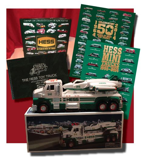 hess toy truck official  anniversary book