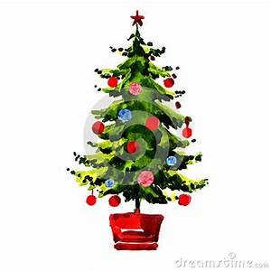 Christmas Tree With Balls Isolated Stock Illustration