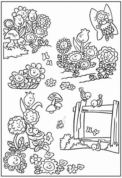 Coloring Garden Pages Flower Gardening Fairy Flowers