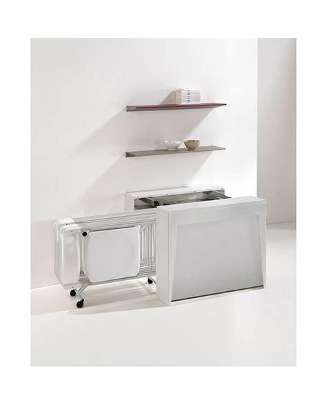 table pliante avec chaises intégrées console extensible avec allonges et 6 chaises pliantes integrées pedro plus