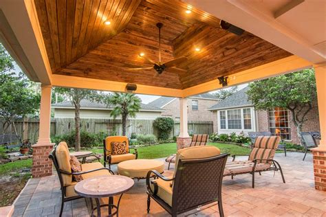 Outdoor Patio by Hip Roof Patio Cover In Copperfield Hhi Patio Covers