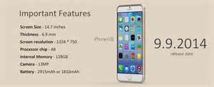 features of iphone 6 apple iphone 6 important features mirchu