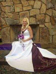 wedding dress with color purple accents wedding pinterest With wedding dress with purple accents
