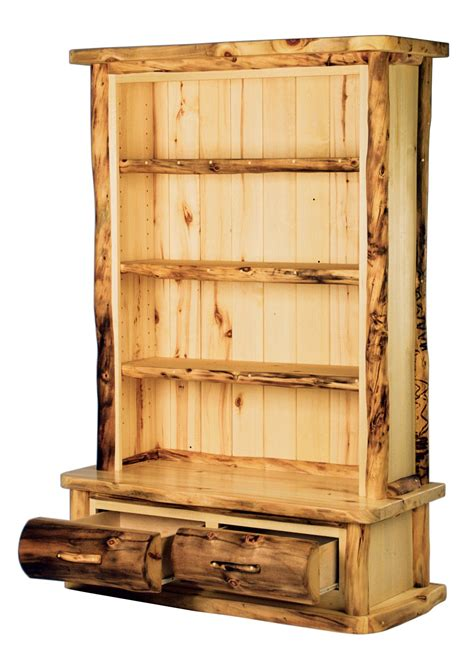 Aspen Heirloom 3shelf Bookcase With 2 Drawers (flatfront
