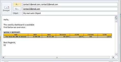 email format exle send email from excel vba exchange use an outlook macro