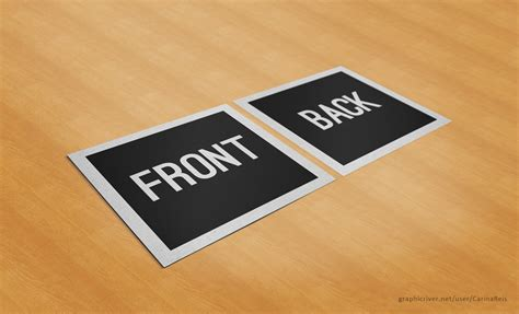 square business card mockup  carinareis  deviantart