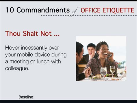 Ten Commandments Of Office Etiquette  Careers News