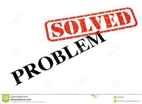 Problem Solved Stock Photo Image Of Answer, Dispute