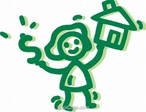 Kauf Eines Gebrauchten Hauses : frau kauf eines hauses vektor clipart bild vc091271 ~ Lizthompson.info Haus und Dekorationen