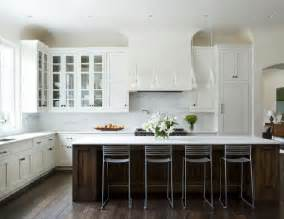 white kitchen wood island why white kitchen cabinets are the right choice the decorologist
