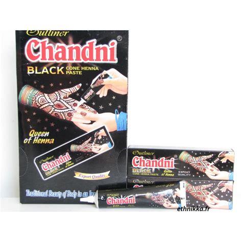 Tube De Henné Noir Chandni Pour Tatouage Prêt à L'emploi