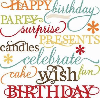 Words Birthday Svg Quotes Paper Happy Kate