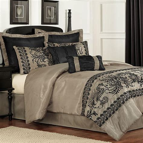 pem america luciel lace queen 8 piece comforter bed in a