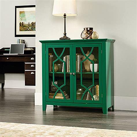 sauder shoal creek green accent storage cabinet