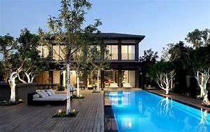 jolie maison pierre et metal house 10 par pitsou kedem With superior maison bois et pierre 6 renovations construire terrasses en bois beton pierre