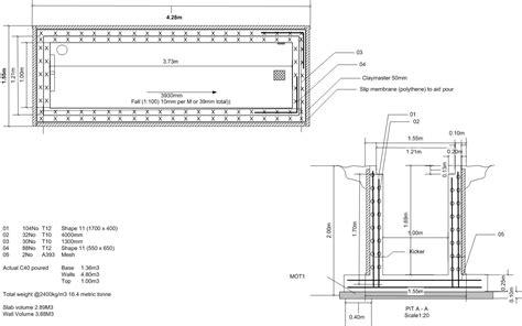 pit dimensions inspection pit build