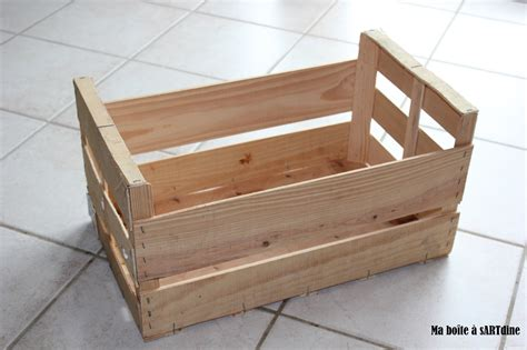un cadre en cagette en bois ma bo 238 te a sartdine