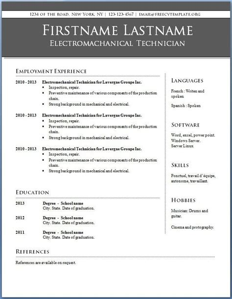 completely  resume templates microsoft word