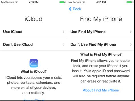 icloud find my phone how to set up a new ios 7 iphone or