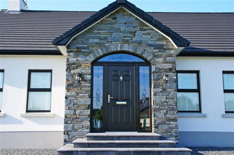 donegal slate  arched front door coolestone stone importers suppliers masonry tyrone