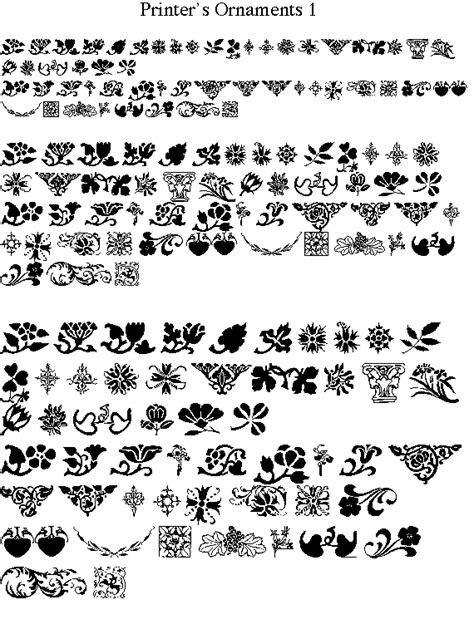 printer s ornaments 1 font