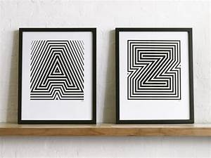 screen printed alphabet posters With screen printing letters