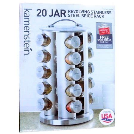 Stainless Steel 20 Jar Spice Rack by Kamenstein 20 Jar Stainless Steel Revolving Spice Tower