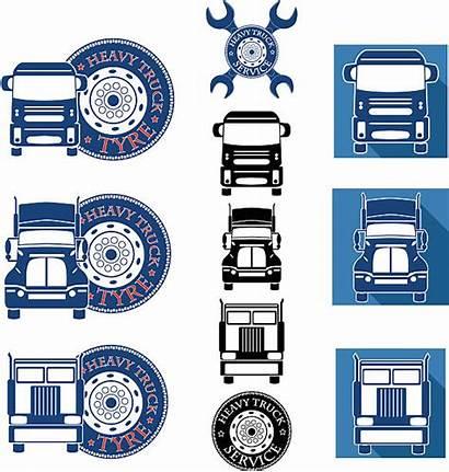 Truck Semi Vector Heavy Service Repair Tire