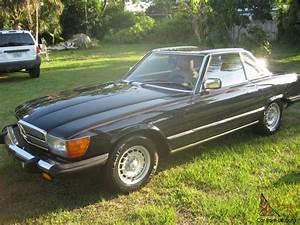 1984 Mercedes Benz 380 Sl Convertible Dark Blue