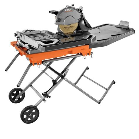 Ridgid Tile Saw Stand by Ridgid 10 In Tile Saw With Stand R4092 The Home Depot