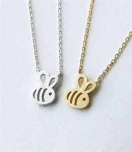 free shipping 1pc Dainty Feminine Baby Bee Necklace ...