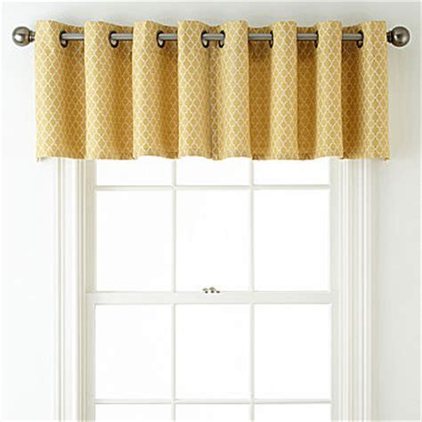 JCPenney Home? Rory Grommet Top Tailored Valance   JCPenney