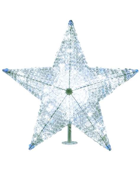 large commercial lighted star tree toppers