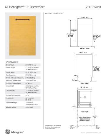 monogram zbd user manual manualzz