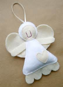 Angel Felt Christmas Ornament