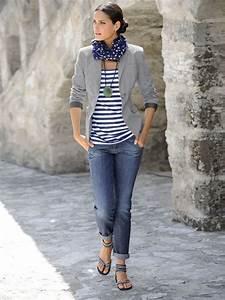 Tenue Printemps Femme : comment porter un blazer gris daily style pinterest mode femme sport chic et saison ~ Melissatoandfro.com Idées de Décoration