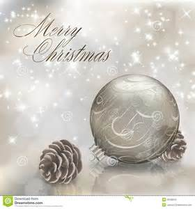 silver merry greeting card stock photo image 28188610