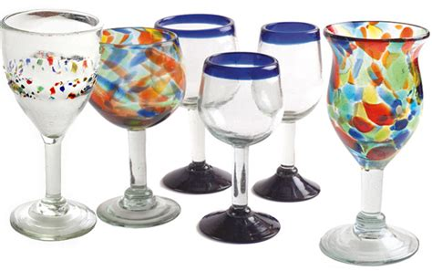 orion mexican glassware beer wine goblets