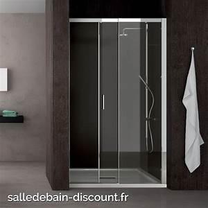 teuco paroi de douche a porte coulissante moving en niche With porte de douche coulissante avec meuble salle de bain largeur 50 cm