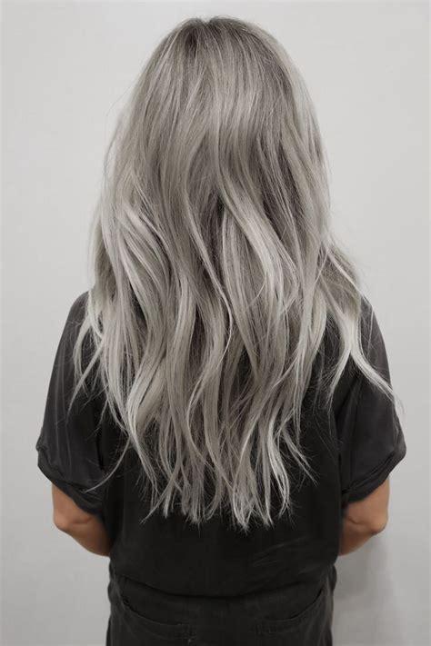 Silver Hair Dye On Blonde Hair Nail Art Styling