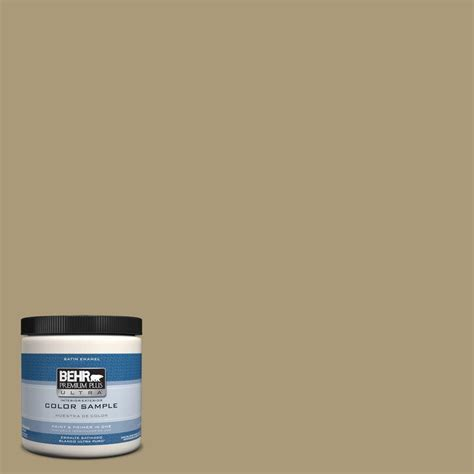 behr premium plus ultra 8 oz ul170 8 washed khaki