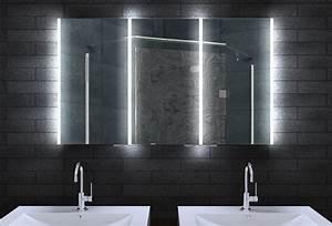 Badezimmer Spiegelschrank Led : alu badschrank badezimmer spiegelschrank bad led beleuchtung 120x70cm mla12700 ebay ~ Indierocktalk.com Haus und Dekorationen