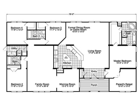 one house plans with two master suites the gotham vr41764b manufactured home floor plan or