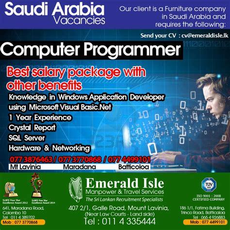 Computer Programming Job Info