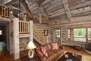 hand hewn skin wall paneling and barnwood ceiling rustic With barnwood skins