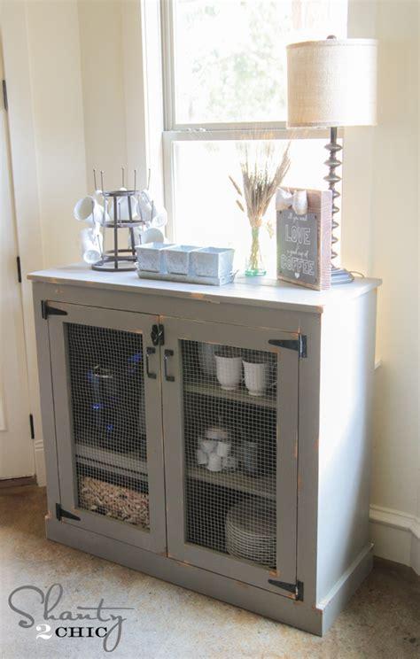 diy farmhouse coffee cabinet shanty  chic
